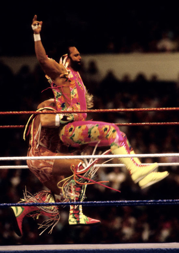 Randy Savage takes down The Ultimate Warrior