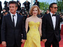 Jessica Chastain says that she enjoyed working with Brad Pitt on The Tree of Life.