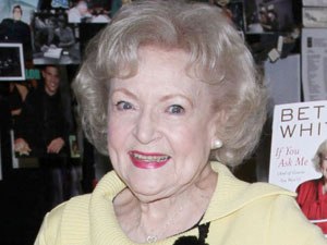 Betty White signs copies of her new book 'If You Ask Me'