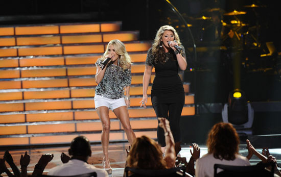 Lauren Alaina and Carrie Underwood