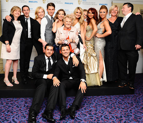 The cast relax with their BAFTA