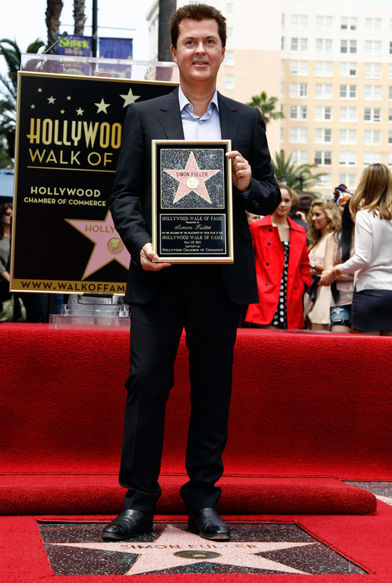 Simon Fuller receives a Hollywood star