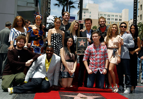 Simon and the American Idol team
