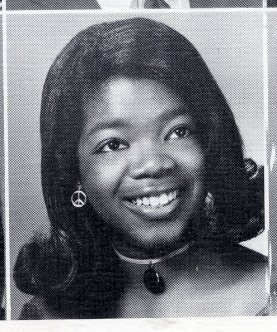 Oprah's yearbook photo