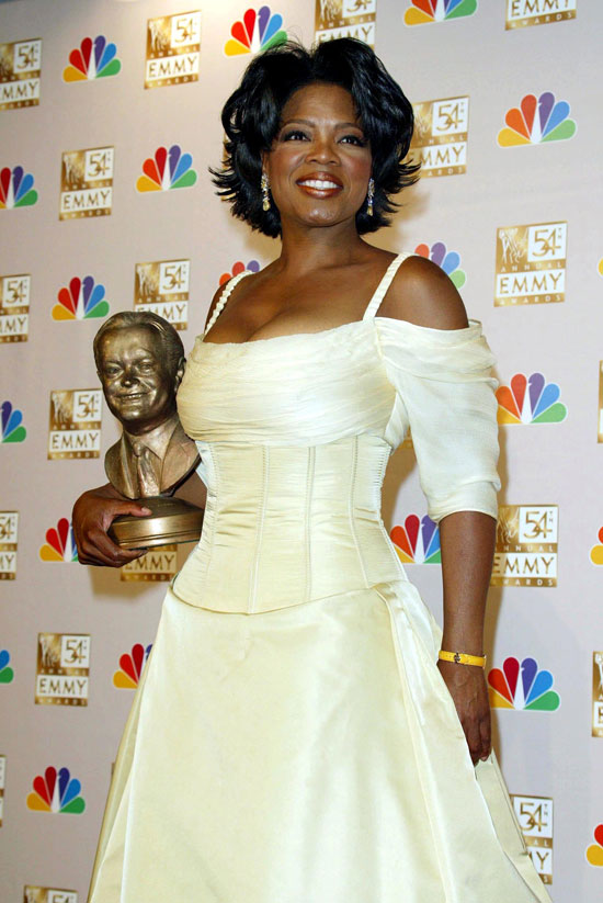 Oprah and a hefty gong