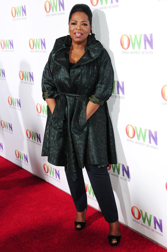 Oprah at her own network launch