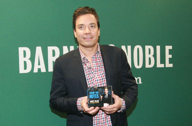 Jimmy Fallon at a book signing for his new wbook 'Thank You Notes' at Barnes and Noble