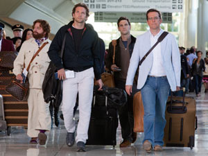 Zack Galifianakis, Justin Bartha, Bradley Cooper and Ed Helms in 'The Hangover: Part II'
