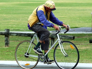 A cyclist