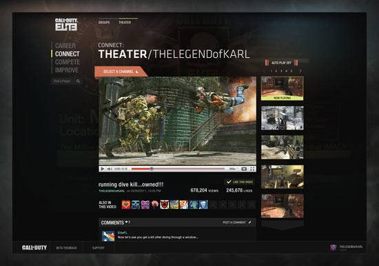 Call of Duty Elite: Theater