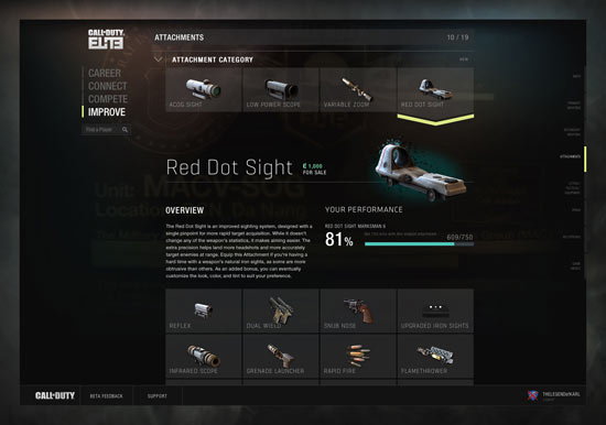 Call of Duty Elite: Red Dot Sight