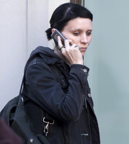 Rooney Mara filming The Girl with the Dragon Tattoo