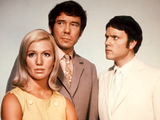 Annette Andre, Mike Pratt and Kenneth Cope in 'Randall & Hopkirk (Deceased)'