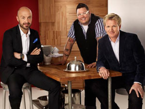 MasterChef judges Gordon Ramsay, Joe Bastianich and Graham Elliot