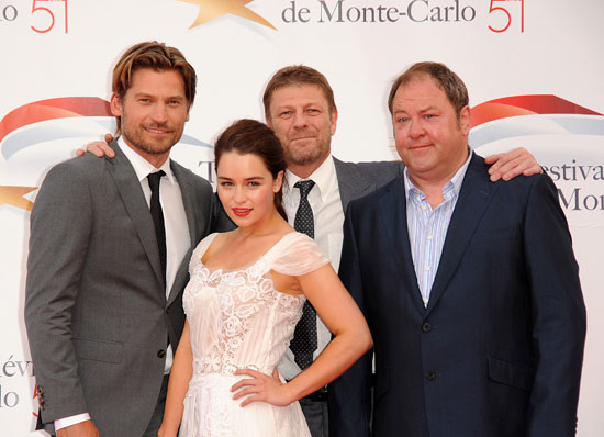Nicolaj Coster-Waldau, Emilia Clarke, Sean Bean and Mark Addy