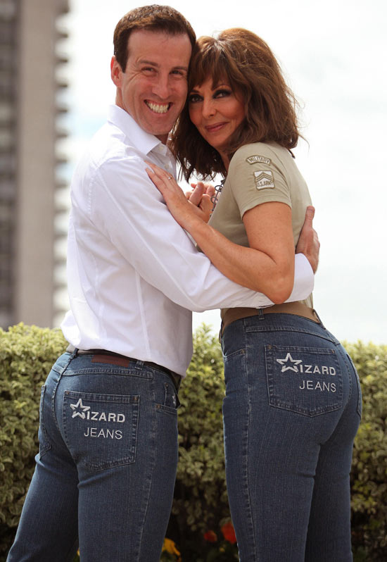 Carol Vorderman and Anton Du Beke win Rear of the Year 2011