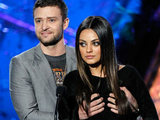 Justin Timberlake and Mila Kunis at the MTV Movie Awards 2011