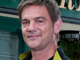 Karl Munro outside the Rovers in Coronation Street