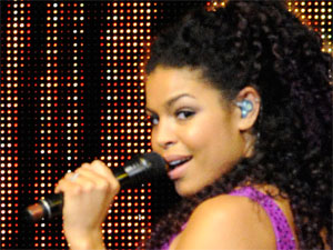 Jordin Sparks performing live at the Air Canada Centre in Toronto