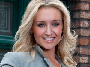 Eva Price outside the Rovers in Coronation Street