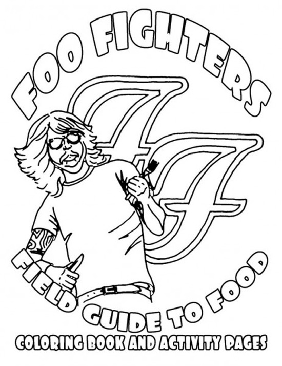 Foo Fighters Tour rider booklet
