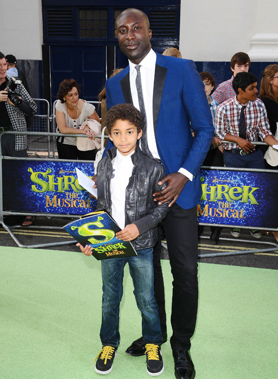 Ozwald Boateng and his son Oscar