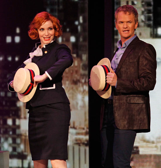 Christina Hendricks and Neil Patrick Harris perform