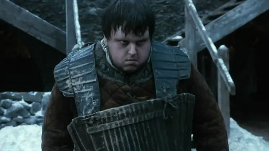 John Bradley as Samwell Tarly in 'Game Of Thrones'
