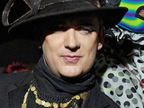 Boy George at his 50th Birthday celebration in London