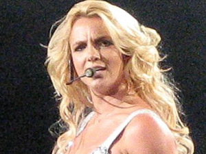 Britney Spears in the Femme Fatale tour