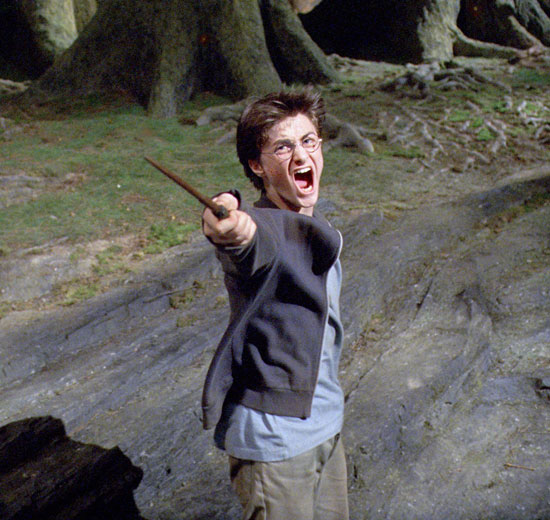 Harry's wand action