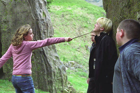 Hermione confronts Malfoy