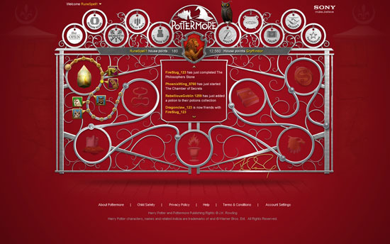Pottermore.com Screenshots