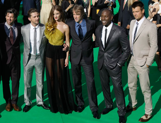 Patrick Dempsey, Shia LaBeouf, Rosie Huntington-Whiteley, Michael Bay, Tyrese Gibson and Josh Duhamel