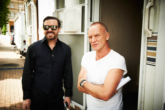 Ricky Gervais and Sting