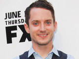 Elijah Wood arriving at the premiere of 'Wlifred and Louie' in Los Angeles