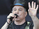Paul Simon returns to the stage after being forced to postpone a London gig due to an illness.