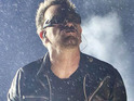 U2 play their long-awaited headline set for a rain-drenched Glastonbury Festival on Friday.