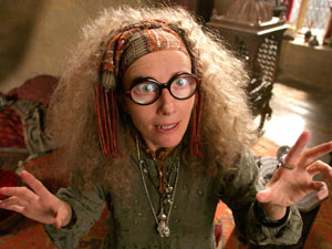Emma Thompson as Hogwarts Divination teacher Sybill Trelawney.