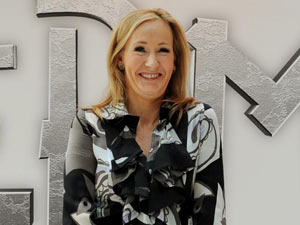 J K Rowling at the Pottermore launch
