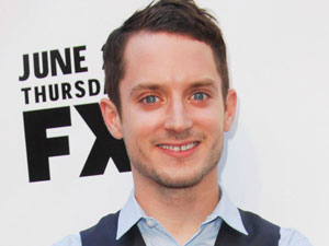 Elijah Wood arriving at the premiere of &#39;Wlifred and Louie&#39; in Los Angeles