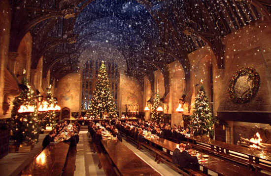The Hogwarts dining hall