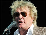 Rod Stewart introduces Stevie Nicks at Hyde Park's 'Hard Rock Calling', London