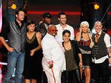 Blake Shelton, Dia Frampton, Javier Colon, Cee Lo Green, Adam Levine, Vicci Martinez, Christina Aguilera and Beverly McClellan from The Voice