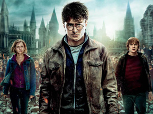 Hermione, Harry and Ron on 'Harry Potter And The Deathly Hallows Part 2' poster