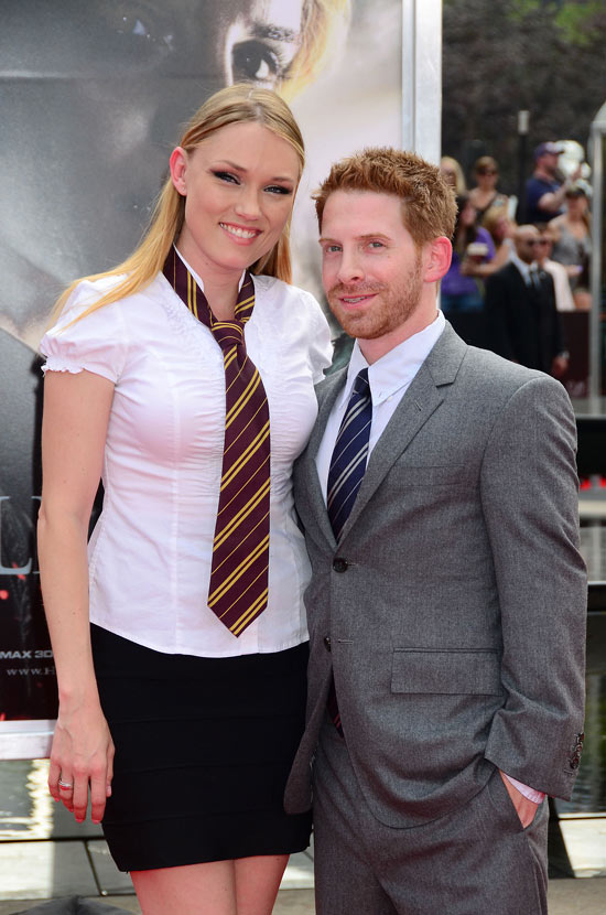 Claire Grant and Seth Green
