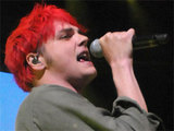 Gerard Way of My Chemical Romance in concert with the band at London's iTunes festival