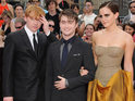 Daniel Radcliffe, Emma Watson and Rupert Grint attend the New York premiere of Harry Potter and the Deathly Hallows: Part 2.