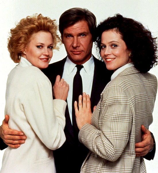 Sigourney Weaver, Harrison Ford and Melanie Griffith