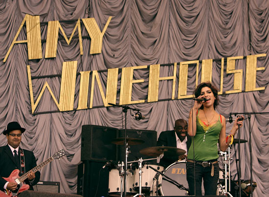Amy at Glastonbury